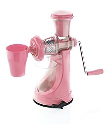 Active Fruit & Vegetable Juicer Mixer Grinder with Waste Collector, (Pink)
