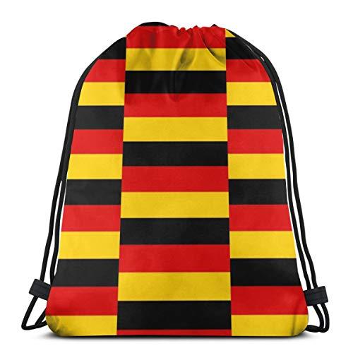 Deutschland Flag_990 Kordelzug Rucksack Rucksack umhängetaschen leichte Sporttasche zum wandern Yoga Gym Schwimmen Reise Strand -