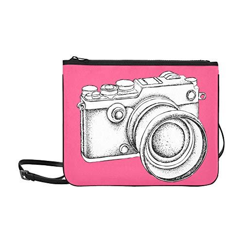 SHAOKAO Vintage Retro Aquarell Kamera Muster benutzerdefinierte hochwertige Nylon dünne Clutch Cross Body Tasche Umhängetasche