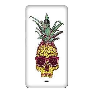 Abhivyakti Funny pineapple Skull Hard Back Case Cover For Nokia 540