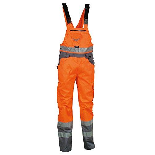 Cofra Warnschutz Latzhose BRIGHT V020-01 Arbeitshose in Signalfarbe orange Gr. 54