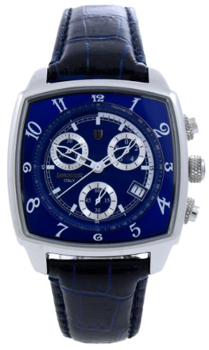 Lancaster Unico Medlium 0262BWB - Reloj cronógrafo unisex de cuarzo con correa de piel azul