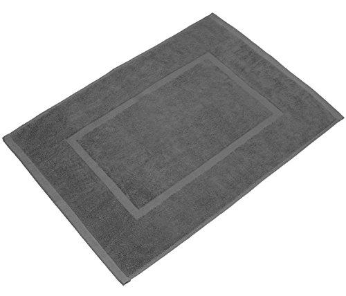 VALNEO Badvorleger in royalgrau, 50x70cm, 100% Baumwolle, Dichte 800 g/m² | 2 Jahre Zufriedenheitsgarantie | Badematte, Badteppich, Duschvorleger