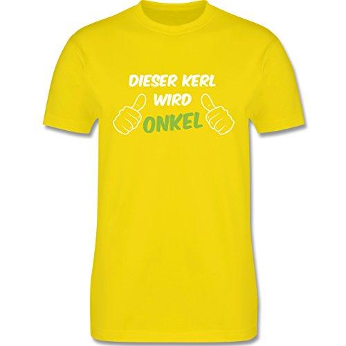 Shirtracer Bruder & Onkel - Dieser Kerl Wird Onkel - Herren T-Shirt Rundhals Lemon Gelb