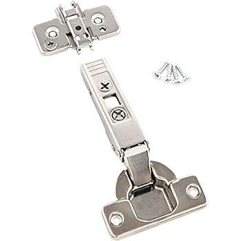 Schrauben und Montageanleitung BLUM Clip top M/öbel-Scharnier 2 St/ück inkl Montageplatten M/öbelband; Eckanschlag ohne Feder