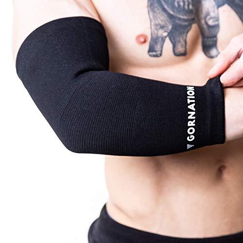 Ellenbogen Support Unterstützung Socke gegen Schmerzen für Calisthenics, Street Workout und Fitness, Schwarz, XL