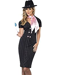 Smiffy's Adult Women's Gangster Moll Costume