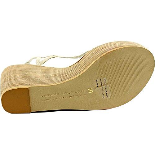 Chinese Laundry Ravenous Damen Leder Keilabsätze Sandale White