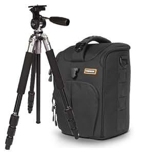 Naneu-c-9 pour appareil photo numérique reflex-noir-avec trépied de voyage aluminium-pRO tPa - 02 pour canon eOS 700D 100D 70D 1200D nikon d7100 d5300 d5200 d5500 d3300 d3200