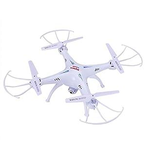 Arshiner SYMA X5SW Quadcopter 2.4GHz 6 Achsen 4 Kanäle Gyro RC Drohne Wifi FPV Video Live-Übertragung Headless Modus mit 2MP Kamera Weiß