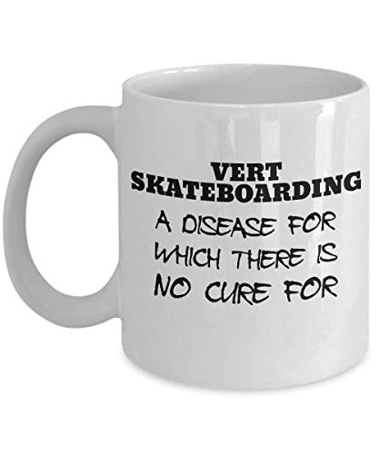 VTYOSQ Vert Skateboarding Mug - Clever and Silly Gift Idea - A Comical and Witty Ceramic Coffee Cup, Always a Fun Surprise to Give and Receive 11 oz