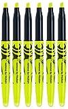 Gelb Pilot Frixion Light Textmarker (radierbar) Set Hi lighter Stifte, 4 mm, Keilspitze, Spitze, Ent