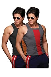 ONN NS534 Mens Assorted Cotton Sports Vest Pack of 2 (Small)