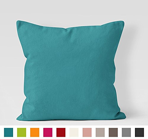 Encasa Homes Dyed Cotton Canvas Cushions (choose with or without fillers) -...