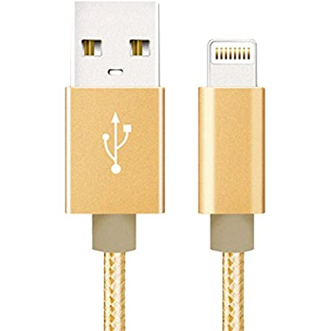 Cuitan 1m Nylon Trenzada USB Cargador Cable para Apple iPhone 6 / 6s / 6 Plus / 6s plus / 5S / 5C / 5, iPad Air 1 2, iPod Touch, iPod Nano 7, Interfaz de Aluminio Cable de Datos USB Cable de Carga Charging Charge Cable para IOS 7/8 Sistema