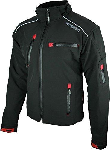 *Heyberry Soft Shell Motorradjacke Textil Schwarz Gr. XXL*