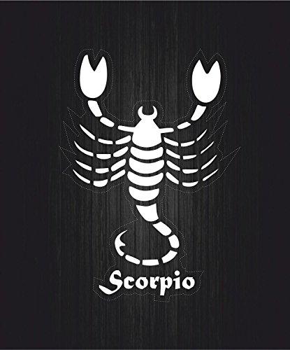 Zodiaco adesivi astrologia Scorpione, segno: Scorpione, colore: bianco trasparente