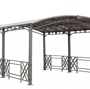 pergola design rectangulaire avec toit rigide jardin. Black Bedroom Furniture Sets. Home Design Ideas
