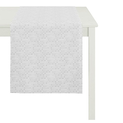 Apelt Casino Tischläufer, 48 x 140 cm, Fb. 81 silber, Größe Tischwäsche:Tischläufer 48 x 140 cm (Tischwäsche Silber)