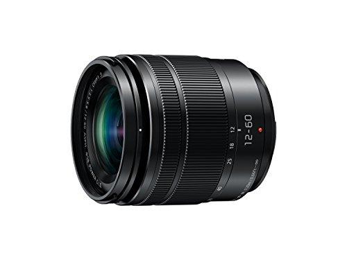 Panasonic H-FS12060E LUMIX G Vario 12-60 mm F3.5-5.6 ASPH. Objektiv (5x Zoom, Power O.I.S. Bildstabilisator, Staub-/ Spritzwasserschutz) schwarz -