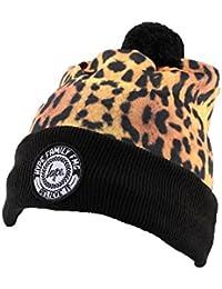 HYPE - Bonnet à Pompon Hype Leopard et Noir Homme / Femme