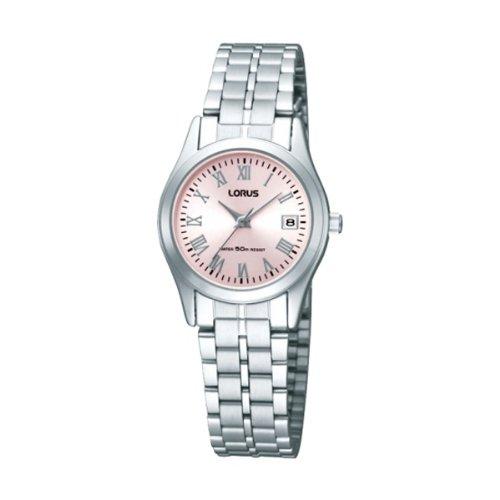 Lorus Ladies Pink Dial Water Resistant Calendar Dress Watch RXT09EX9