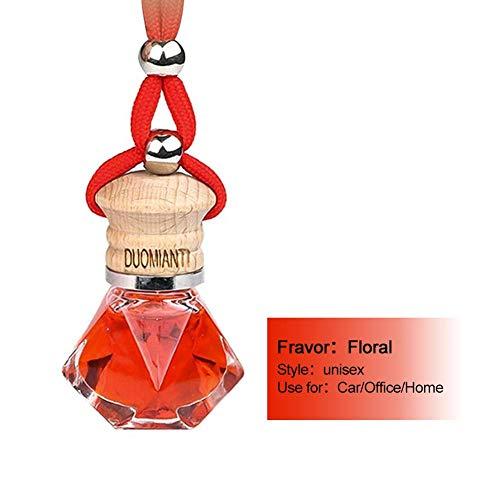CARTEY Auto Anhänger, Parfüm Anhänger, Parfümflasche, Parfüm Hänge Dekor, Lufterfrischer Parfüm Duft Glasflasche für Auto oder zu Hause - 10ml -