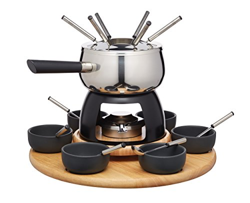 Kitchen Craft Master Class Artesa Acciaio Inossidabile 6-Person Partito fonduta Set