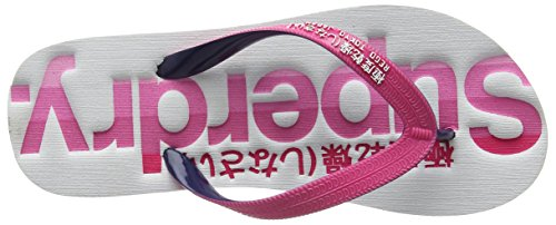 Superdry Damen Cali Flip Flop Zehentrenner rosa (Rosa (Cali/Hot Pnk/Hurricane Nvy/OptWSF))