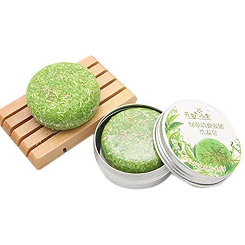 rebirthesame Rosmarin Shampoo Seife, Reveur Scalp Lavendel Pflanzenöl Haarpflege Shampoo, Aluminium Box Verpackung - Grünen Bio Body Wash