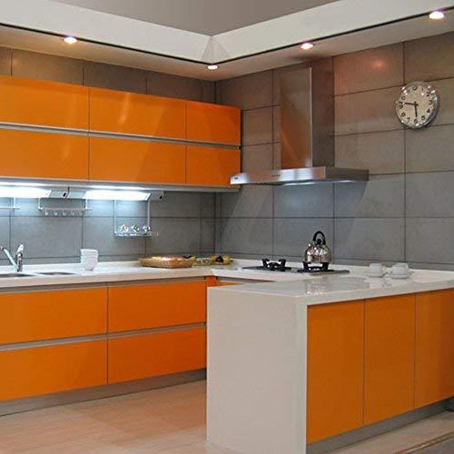 SOLDGOOD Rouleau de Papier Peint Autocollant en PVC 5,5 m x 0,61 m, Plastique, Orange, 2-Rolls 61cm*5.5m