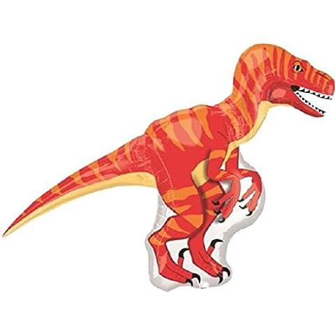 Dinosaurio Velociraptor gigante globo de papel de aluminio (vendido desinflado)