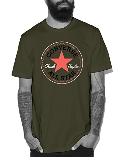 Converse Herren Core Seasonal Cp Tee T-Shirt Fatigue Green