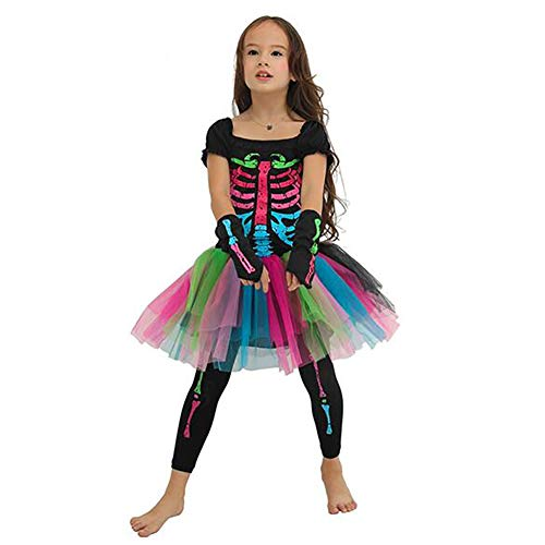 n Cosplay Tutu Kleid Für Halloween Weihnachten Karneval Kinder Mädchen Funky Punky Schickes Kleid Kostüm,M ()