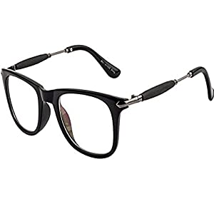 Y&S Metal Men's and Women's Sunglasses (Clear-Wayfarer-Golden-Stick-Single)