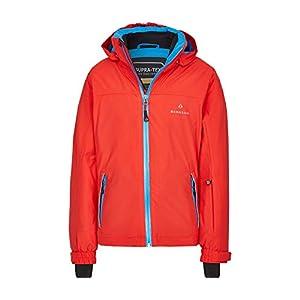 Bergson Kinder Skijacke LURA – PFC-frei, warm wattiert, wasserdicht, Winddicht, atmungsaktiv, Wassersäule: 20000 mm, Atmungsaktivität: 20000 g/qm/24Std
