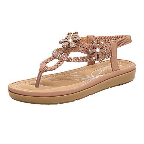 TUDUZ Sneaker Socken Herren Einfarbige Wild Sandalen für Damen, rutschfeste Sandalen, lässige Sommer-Strandschuhe Pumps(Rosa,40EU)