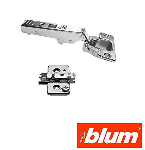 Blum 70.255 Austria CLIP Standardscharnier Eckanschlag 71M2550 + Montageplatte