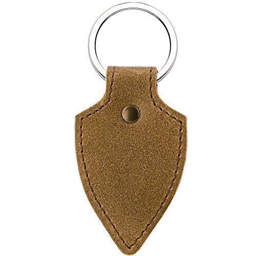Schlüsselanhänger aus echtem Leder für Damen und Herren KEY4 Hellbraun