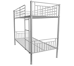 Montreal Childrens Single Metal Bunk Bed White