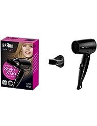 Braun Satin Hair 1 HD130 StyleundGo Haartrockner (klappbarer Reiseföhn für unterwegs)