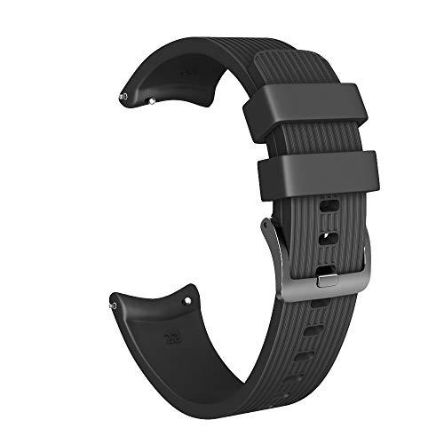 Für Samsung Galaxy Watch 46mm Armband,JSxhisxnuid Premium Soft Silicone Sport Armband Replacement Strap Adjustable Für Samsung Galaxy Watch 46mm Männer/Fraue(Klein) (Schwarz)