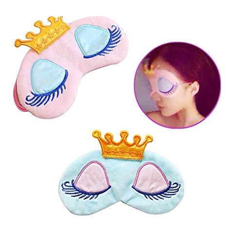 ([2Pack] Kinder Schlafmaske, Beauty Cartoon Eye Maske & eye-shade Augenbinde Travel Nap Prinzessin Krone Cover für Kid 's Sweet Dreams)