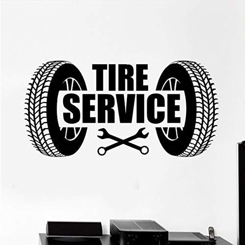 too Auto Reifen Service Logo Wandaufkleber Auto Reparatur Garage Wand Kunst Wandbild Dekoration Auto Service Wallpaper ()