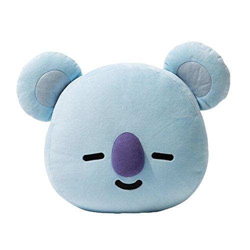 Skisneostype BTS - Cuscino a pupazzo, imbottito, BT21- piccolo peluche - Bangtan Boys - federa cuscino - perfetto per casa, auto, ufficio, viaggio, scuola, arredi - regalo Koala-s