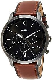 Fossil Neutra Chrono Men's Grey Dial Leather Analog Watch - FS