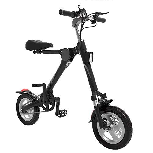 H&BB Pieghevole Bicicletta Elettrica, Adulto Bici Elettrica Scooter Pedalata Assistita Batteria al Litio con Display LCD Pedale di Viaggio Piccola Batteria Auto Unisex