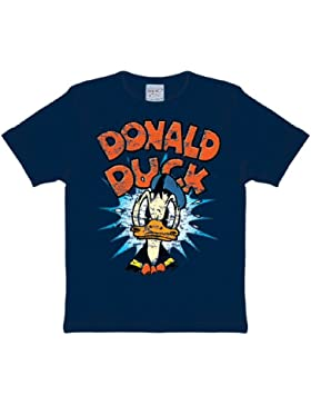 Disney - Donald Duck Logoshirt Kinder T-Shirt Navy, 92/98