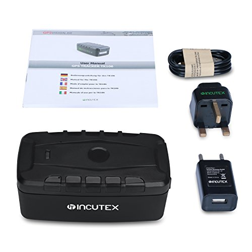 Incutex GPS Tracker TK106 Langzeittracker wasserdicht Magnethalterung Containertracker Version 2019