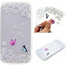 Para Huawei Ascend Y600 (5.0 Pulgadas) Carcasa HyunZe® TPU Case y silicona Funda - MM708 Pareja Mariposa
